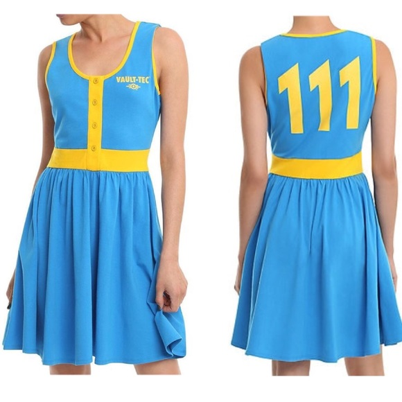 551724ee65e New~ Fallout 4 Vault 111 Cosplay Dress NWT